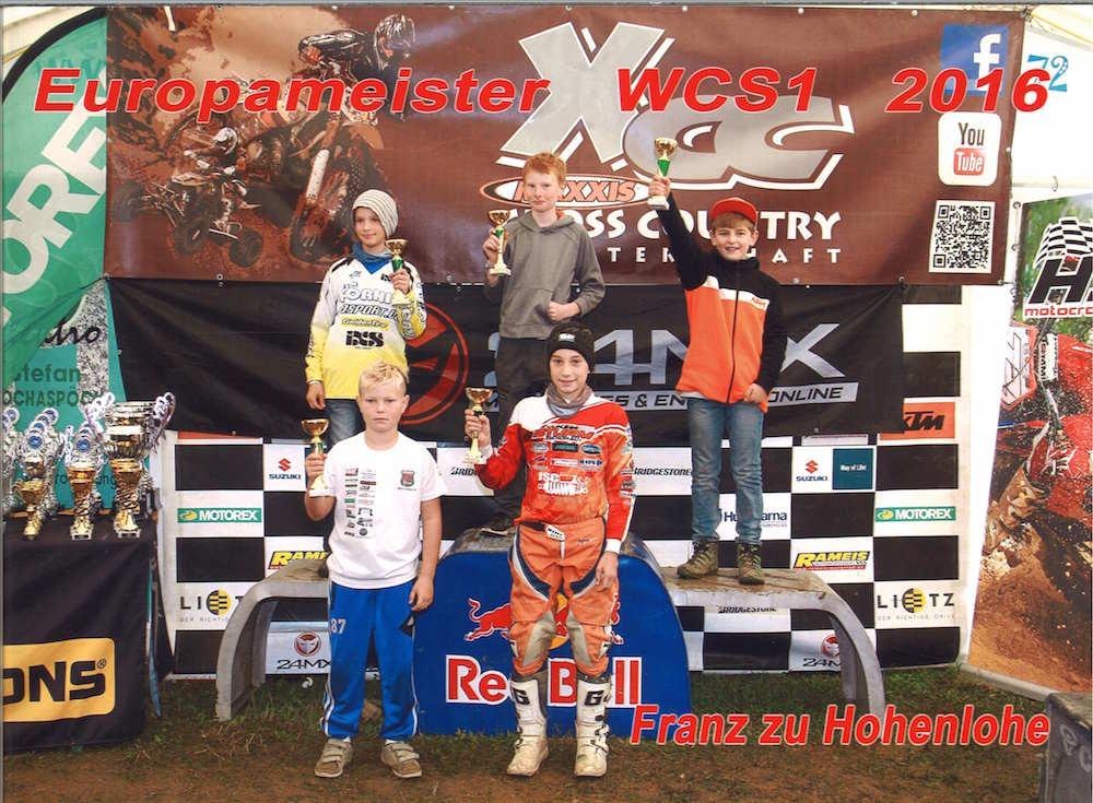Deutscher Meister im German Cross Country GCC und Europameister in der Klasse Wild Child Series WCS-1