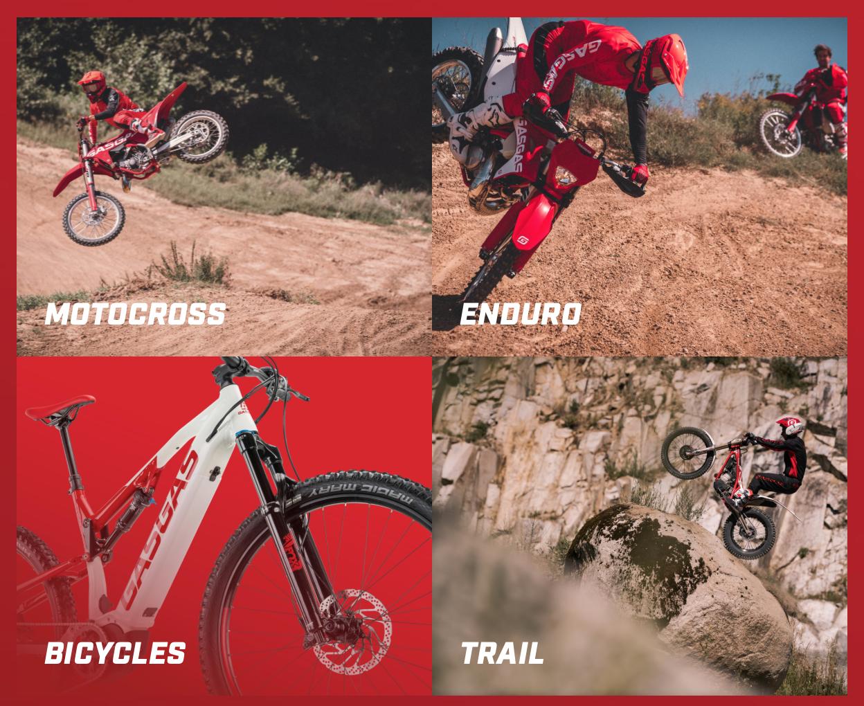 GasGas Motorrad Fahrräder